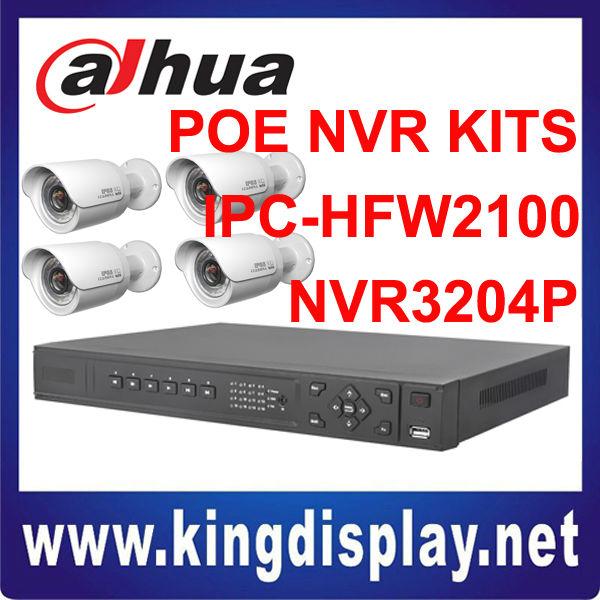 hot sale dahua network video recorder mini ir ip camera kits home use high definition