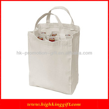 Nude Heavy Canvas 6 Bottle Wine Tote Bag