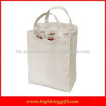 Nude Heavy Canvas 6 Bottle Wine Tote Bag