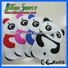 For iPad Mini Neon Green Baby Panda Rubber Soft Silicone Skin Case