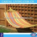 Brasileira ao ar livre do jardim cor laranja listrado lona hammock swing brinquedo cama + saco