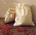 White cotton bag packing rice