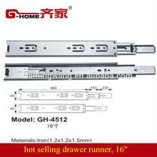 "16"" iron drawer runner drawer slide soft close"
