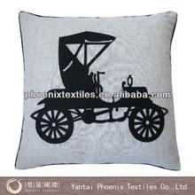 45*45 applique plain cushion covers cotton