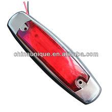 """6"""" stainless chroming Led Trailer side marker lamp, LED Universal TRUCK tail Light, stop/turn/reverse light"""
