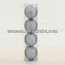6CM Silver Glitter Christmas ball Ornament