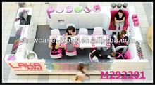 nail bar counter nail furniture 5x3m display nail skin product in the mall