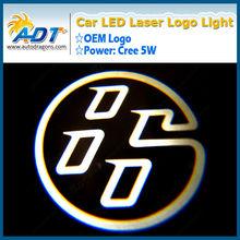 Hot selling 2013 new logo light projector 12V Brand car led laser light ghost shadow light