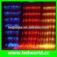 new design wall side spakle fiber optic waterfall light curtain