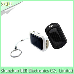 Nice 1200mah solar powered keychain mini usb charger from original manufacture