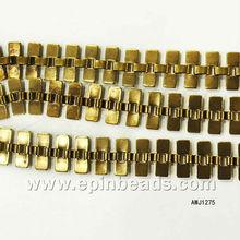 3*5mm hollow rectangle brass New gold chain design for men