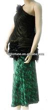 silk fashion skirt---ladies'party dresses--55% spun silk / 45% viscose