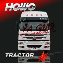 white sinotruk tow tractor head