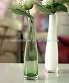 de alta calidad al por mayor de color claro grandes decorativos antiguos florero de vidrio blanco