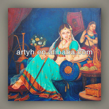 High quality best price indian women wall art on canvas