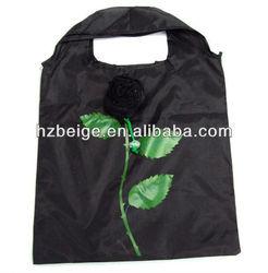 Nylon Rose Bag,folding shopping bag for wholesale
