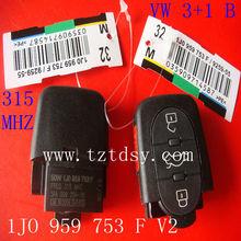Tongda key remote vw.3+1Button original remote key( 1JO 959 753F) V2 315MHZ