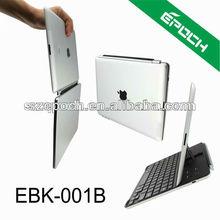 HOT!! 3 in 1 Keyboard Ipad Stand Aluminum Case Bluetooth Keyboard for iPad