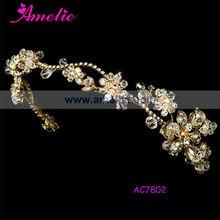 Handmade Floral crystal bridal headband