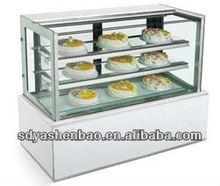 cake display refrigerator/cake showcase chiller/refrigerated cake showcase