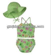 2013 hot sexy children swimwear cute baby swimwear children swimsuit models flower swim wear girl swimsuit green