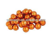 Orange Christmas ball ornament