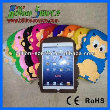 For iPad Mini Cute Monkey Rubber Soft Silicone Skin Case