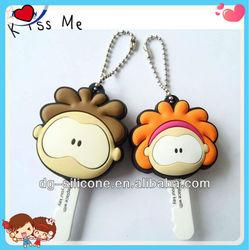cheap custom 3d soft pvc cute house key head cover wholesale