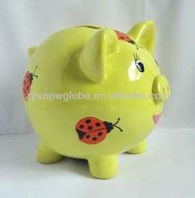 Resin piggy custom coin bank