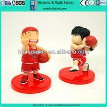 making cartoon basketball player pvc figure;basketball boy custom make pvc figure;dear boys customized pvc figure