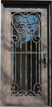 Flat Rectangular Forged Steel Security Door Designs FS-041