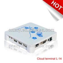 Cloud Computer Terminal 24Bit Color Win XP, Inbuilt WinCE6.0 XCY L-14 For Unlimited Users