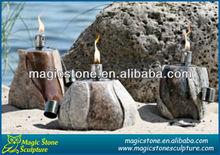 stone made kerosene lantern