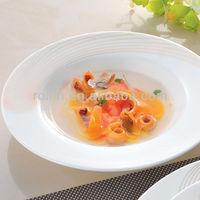 Hotel & garden white ceramic dinnerware for dinner