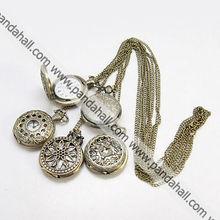 Fashion Iron Pocket Watches, with Brass Watch Head(WACH-G006-M2)