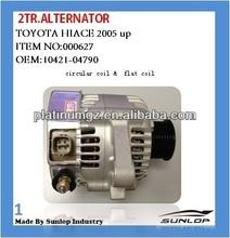 toyota hiace parts 2TR alternator #000627 hiace 2TR alternator for toyota hiace 2005 up,KDH 200,commuter,quantum 10421-04790
