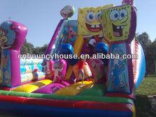 7M H Commercial Spongebob Inflatable Slide/ Outdoor Big Inflatable Slide Spongebob / Big Spongebob Inflatable