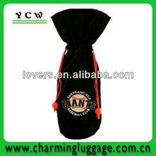 Promotional velvet bag/velvet wine bag/gift wine bag