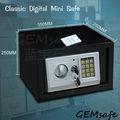 EW250 (GemSAFE) seguro mecánico, seguridad pared del hotel caja fuerte digital