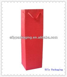 Custom Folding Wine Carrier Bag for Gift Packaging