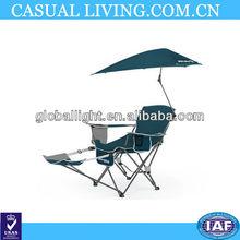New Blue SportBrella Folding Recliner Beach Garden Chair w/ Footrest & Umbrella