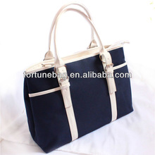Top grade and fashion canvas college tote bag