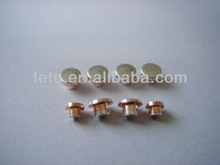 switch point of silver contact rivet