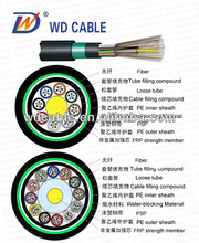 Top ! PE jacket fiber cable GYFTY53 Stranded Loose Tube Non-metallic Strength Member armored Cable