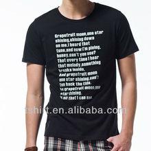 Custom men designer black t shirt