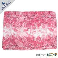 100% polyester chiffon rose scarf
