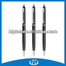Wholesales Cheap Corlorful Slender Hotel Metal Ball Pen