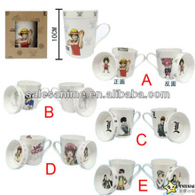Wholesales Anime Series Figures Image and Expression Frosted Glass Cup Many Options