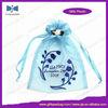 Ribbon Drawstring Organza Gift Bag with Rosette Decoration
