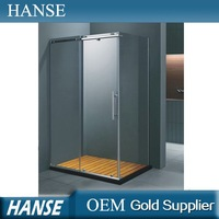 HS-SR847 1.2m length 8mm tempered glass prefab sitting shower room